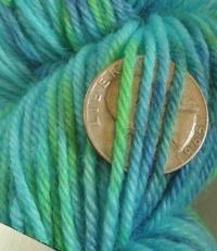 Two Minutes to Midnight Amara Sock Yarn hand dyed BFLnylon